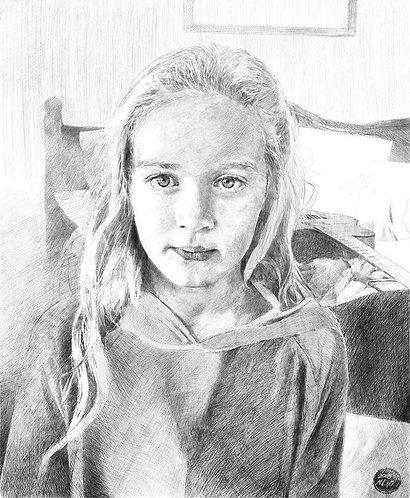 (Commission) Large-scale Portrait Drawing