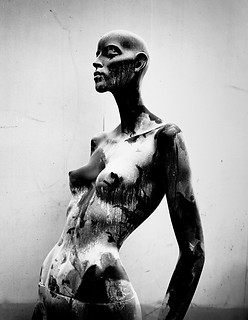 Still life photography:Adel Rootstein ebony female mannequin.