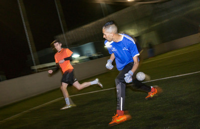 7 a side football at night