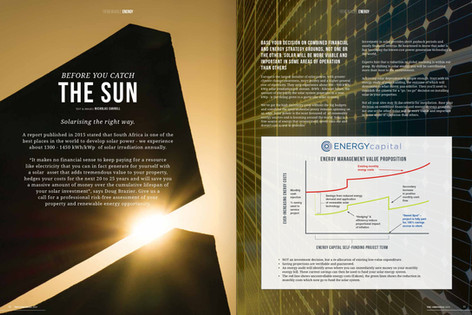 Photography and feature story about solar power as a renewable energy