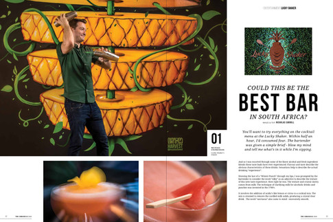 A feature story with images about a new cocktail bar on Umhlanga Ridge