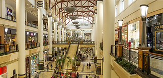 Professional architecture photography: extreme hi resolution scene of Gateway shopping mall interior.