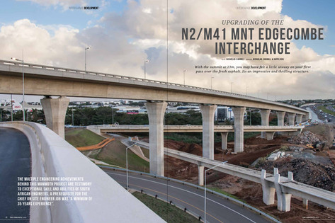 Photography and story about the incredible engineering feat of a major interchange upgrade in KZN South Africa