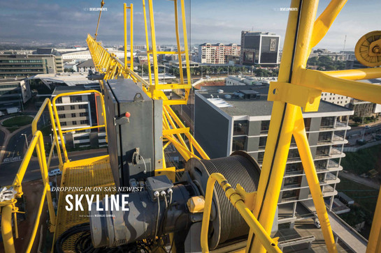 Photography and article about the tower cranes on Umhlanga Ridge and the new skyline they are helping to construct.