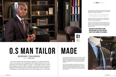 Photography and feature story about a bespoke tailor store.