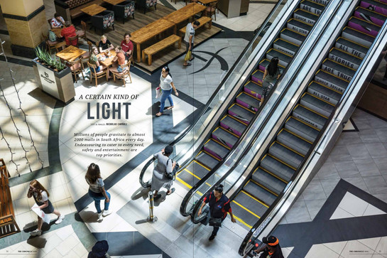 Architectural and street photography ullustrating a feature story about natural light in shopping malls