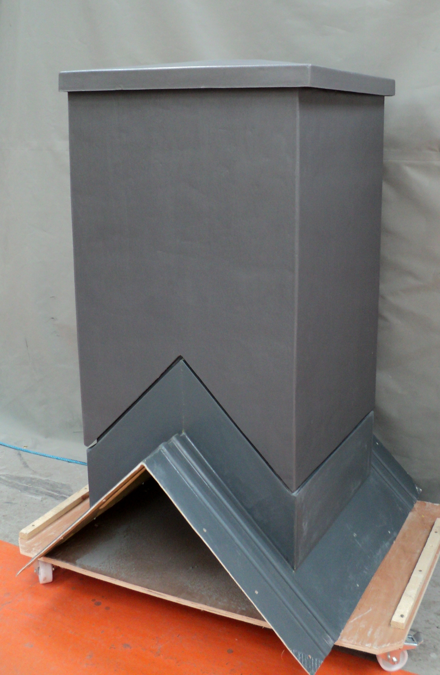 Aluminium effect chimney