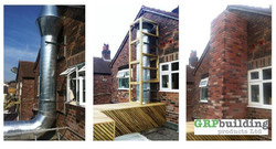 Before During & After Flue Cover
