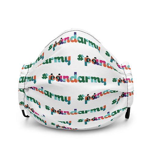 Masque #Pandarmy logo multicouleur camouflage version briques