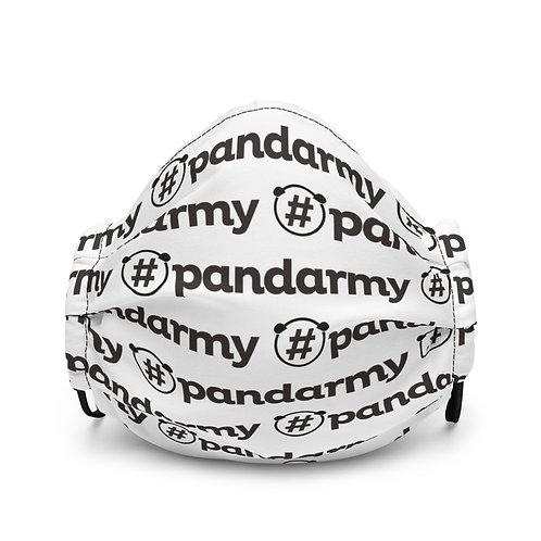 Masque #Pandarmy logo noir et blanc