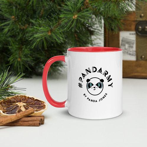 Mug à Intérieur Coloré #Pandarmy logo Panda Jones 2 côtés