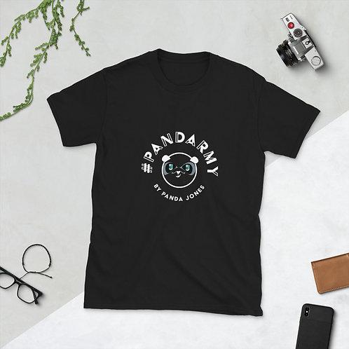 T-Shirt Unisex #pandarmy logo Panda Jones Blanc