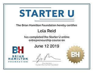 BH Starter U Certificate