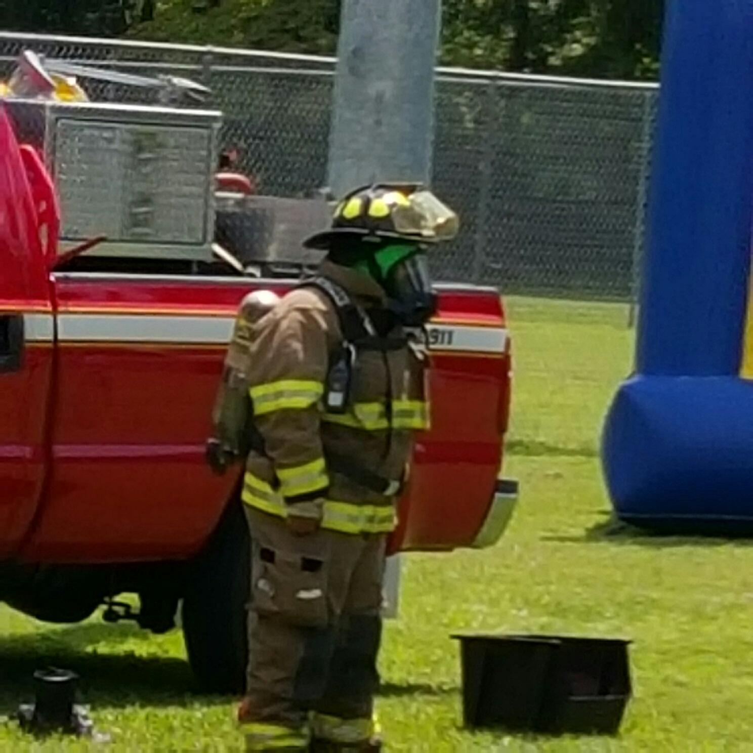 Mrs. Fireman in Uniform