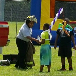 Mrs. Fireman Instructing