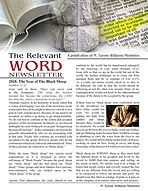 The Relevant WORD Newsletter pg 1
