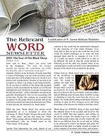 The Relevant WORD Newsletter pg 1