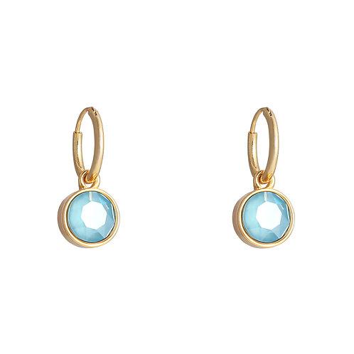 Vibe earring blue - goud