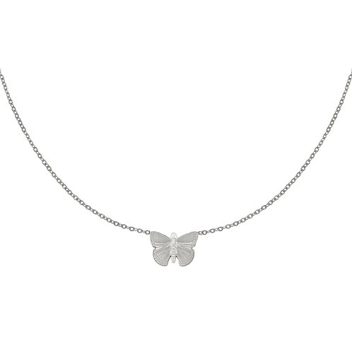 Fly with me necklace - zilver