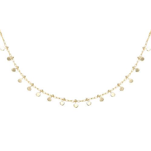 Confetti necklace - goud