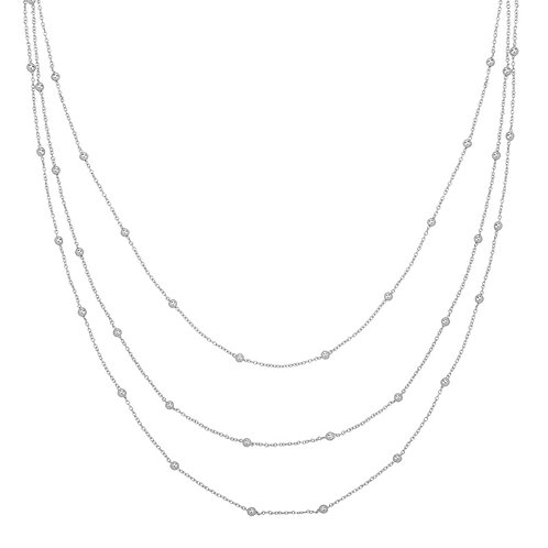 Necklace Layering Dots - Zilver