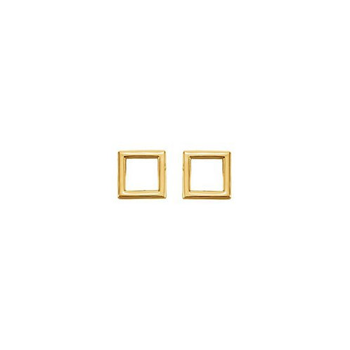 Earring square - Gold