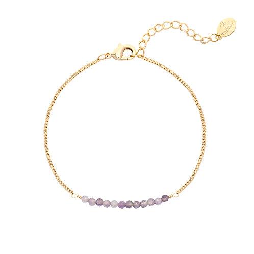 Amethist bracelet - goud