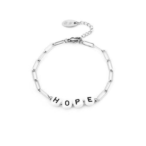 Hope bracelet - zilver