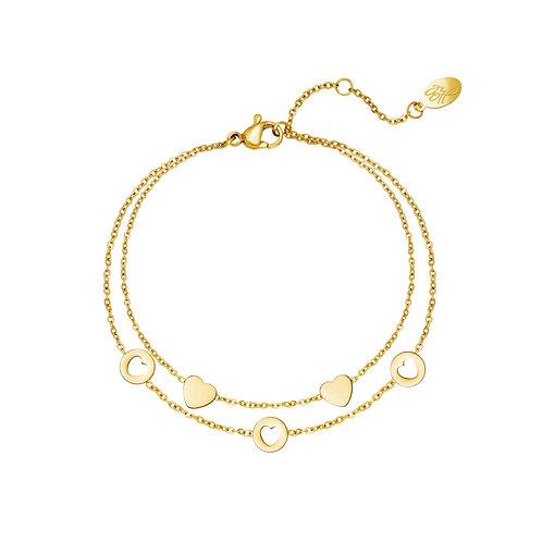 Prove me right bracelet - goud