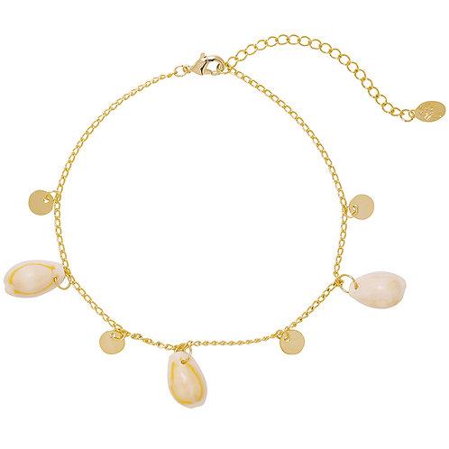 Beach shells ankelbandje - goud