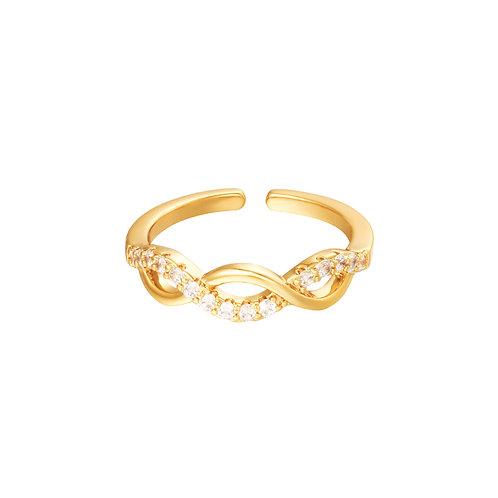 Wave ring - goud