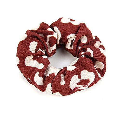 Scrunchie - print rood