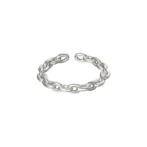 Connected ring - zilver