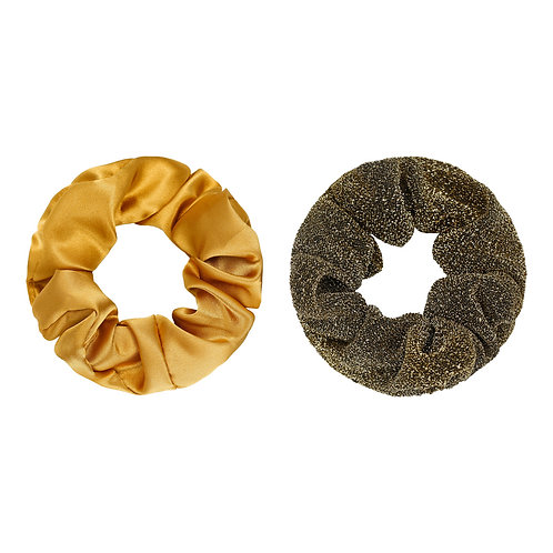 Scrunchie set - Disco geel