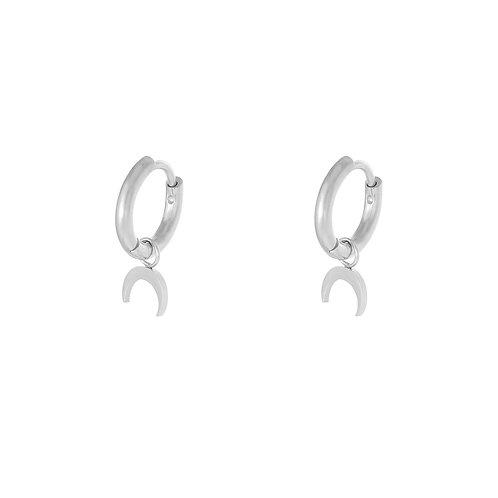 The horn earring - zilver
