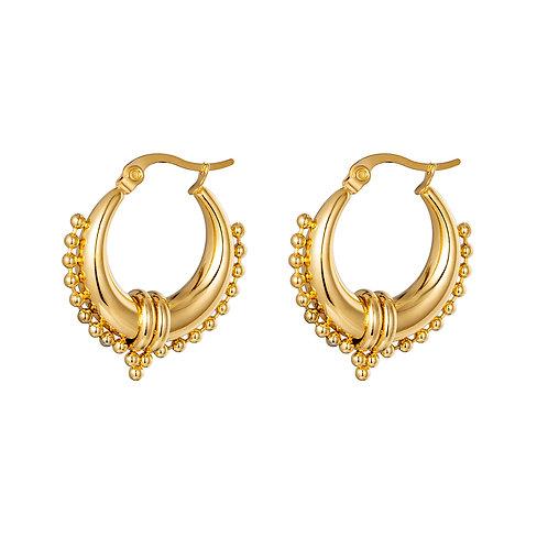 Bali feeling earring - goud