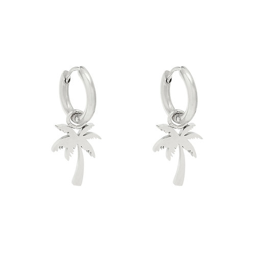 The palm earring - zilver