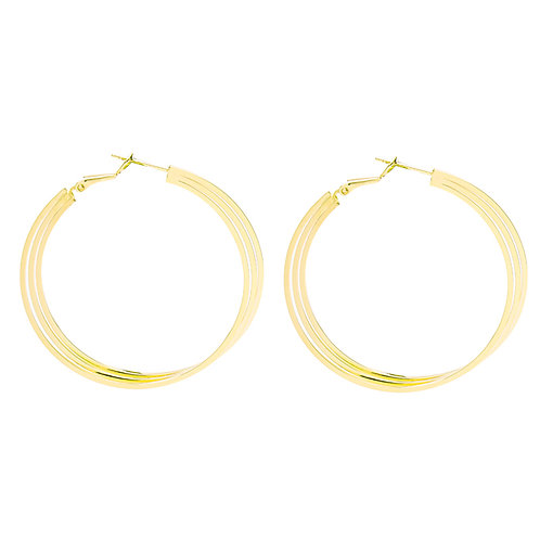 Triple hoops earring - goud