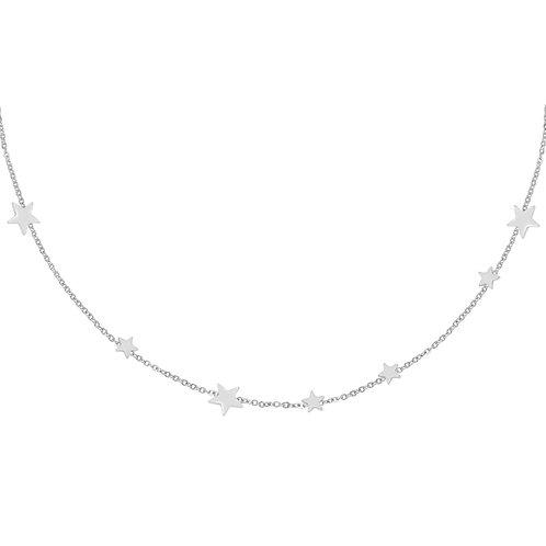 Star away necklace - zilver