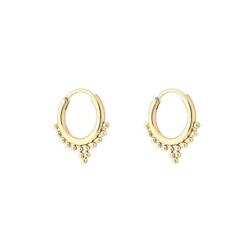 Sweet fall earring - goud