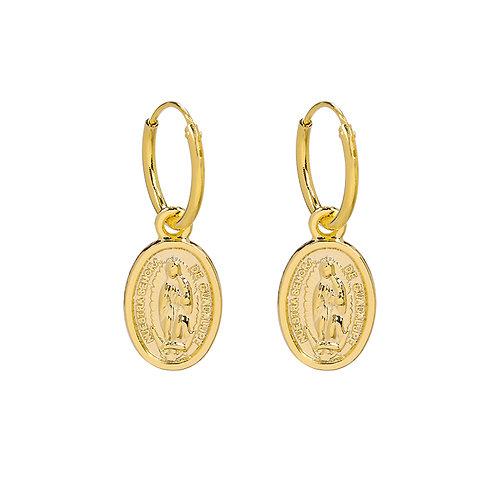 The mary earring - goud
