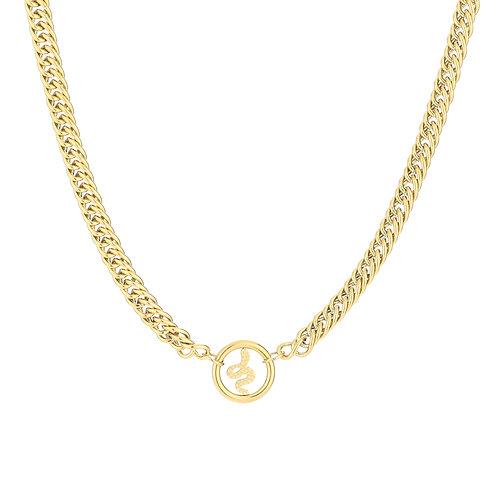 Snake fever necklace - goud