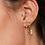 Thumbnail: Arrow earring - zilver