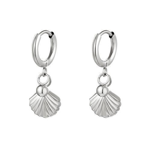 Shell we earring - zilver