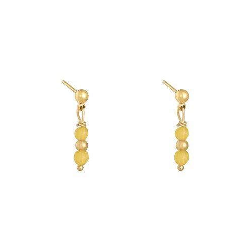 Yellow fever earring - goud