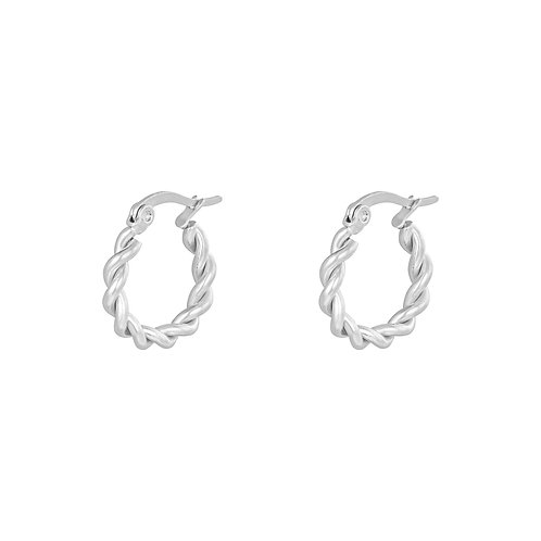 Call me now earring - zilver