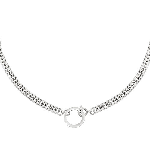 Play it again necklace - zilver