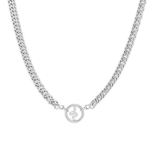 Snake fever necklace - zilver