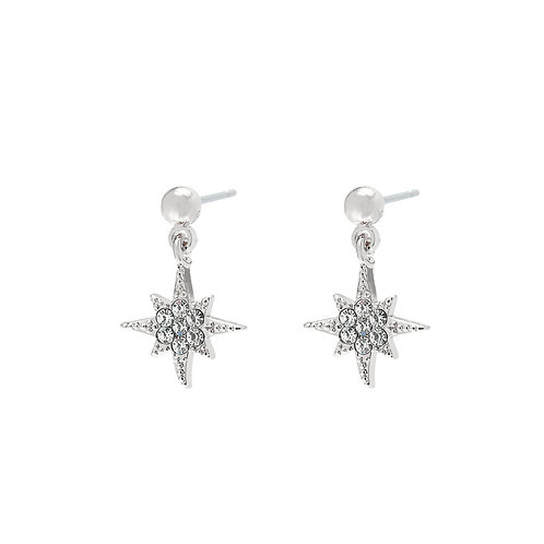 Earring starry night - zilver