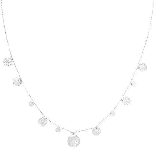 Necklace - Royal rounds zilver